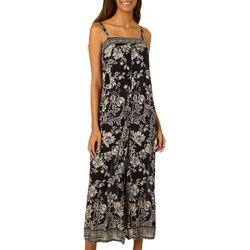 Angie Juniors Floral Print Sleeveless Jumpsuit