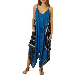 Juniors Tie Dye Print Jumpsuit