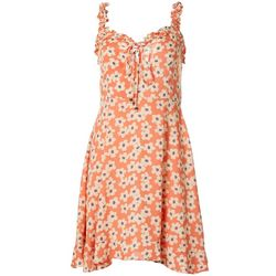 Angie Juniors Ruffle Ditsy Floral Print Dress