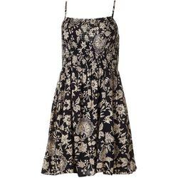 Juniors Smocked  Floral Print Dress