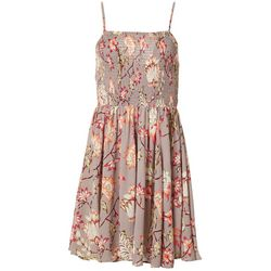 Angie Juniors Smocked Bodice Floral Dress