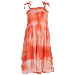 Juniors Tie-Dye Layered Flowy Dress