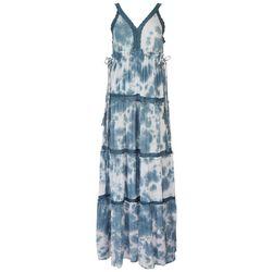 Angie Juniors Tie-Dye Crochet Maxi Dress