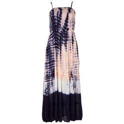 Angie Juniors Tie-Dye Maxi Dress