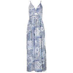 Angie Juniors Paisley Patchwork Pattern Mix Dress