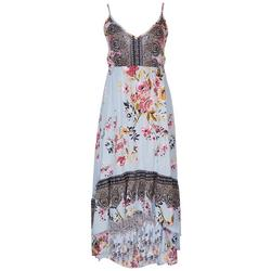 Juniors Asymmetrical Floral Maxi Dress