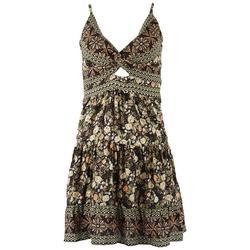 Juniors Empire Waist Floral Dress
