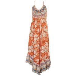 Juniors Multi Pattern Maxi Dress
