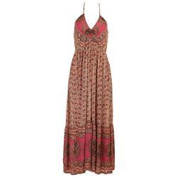 Juniors Paisley Floral Halter Maxi Dress