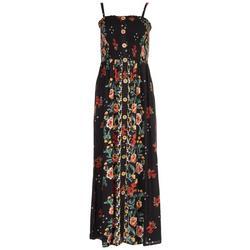Juniors Smock Floral Maxi Dress