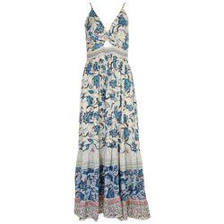 Angie Juniors Twist Front Maxi Dress