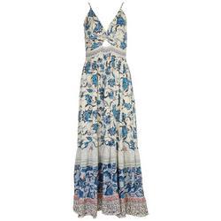 Juniors Twist Front Maxi Dress