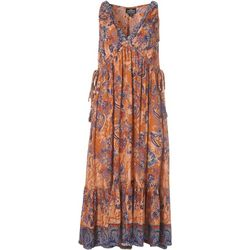 Angie Juniors Sleeveless Floral Print Maxi Dress