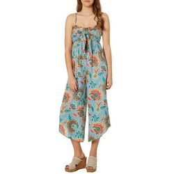 Angie Juniors Boho Floral Wide Leg Jumpsuit