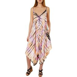 Angie Juniors Tie Dye Print Flowing Jumpsuit