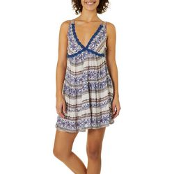 Angie Juniors Boho Crochet Floral Sundress