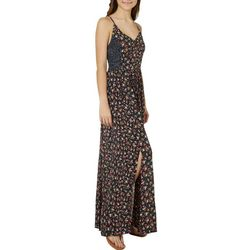 Angie Juniors Dotted Floral Maxi Dress