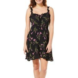 Angie Juniors Floral A-Line Sundress