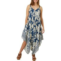 Juniors Tropical Print Jumpsuit
