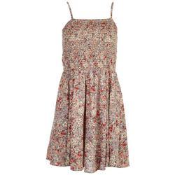 Juniors Smocked Floral Tier Dress
