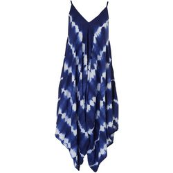 Angie Juniors Tie-Dye Asymmetrical Dress
