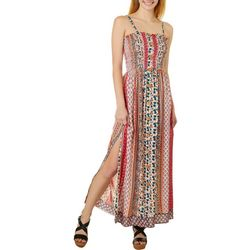 Angie Juniors Floral Vertical Pattern Dress