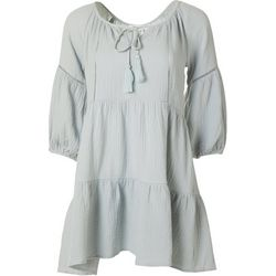 LUSH Juniors 3/4 Sleeve Solid Dress