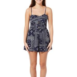 Bailey Blue Juniors Bandana Print Romper
