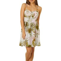 Bailey Blue Juniors Palm Print Sundress