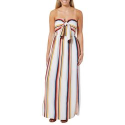 Bailey Blue Juniors Strapless Striped Maxi Dress