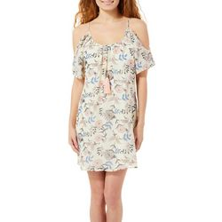 Bailey Blue Juniors Mixed Floral Cold Shoulder Dress