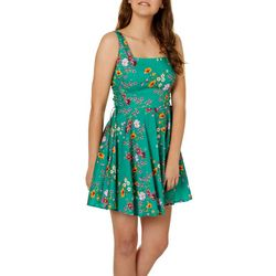 Bailey Blue Juniors Floral Print Side Lace-Up Sundress