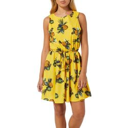 Bailey Blue Juniors Tropical Pineapple Print Dress