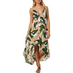 Bailey Blue Juniors Tropical Palm Leaf Print Sundress