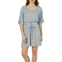 Bailey Blue Juniors Striped Lace-Up Waist Sundress