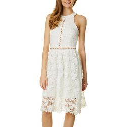 Max & Ash Womens Lace and Eyelet Dress