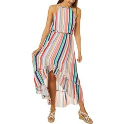 Bailey Blue Juniors Stripe High-Low Maxi Dress