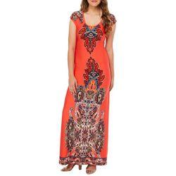 Bailey Blue Juniors Boho Damask Print Maxi Dress