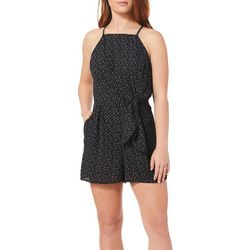 Speechless Juniors Dot Print Halter Romper