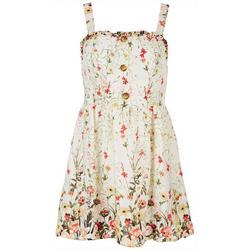 Juniors Floral Printed Dress