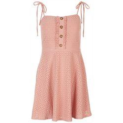 Speechless Juniors Sleevles Eyelit Dress