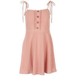 Juniors Sleevles Eyelit Dress