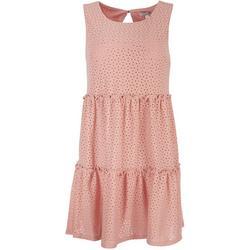 Juniors A-Line Tiered Dress