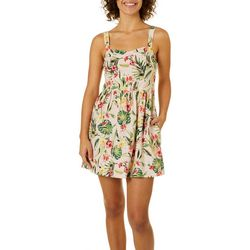 Lots of Love Juniors Tropical Floral Sundress