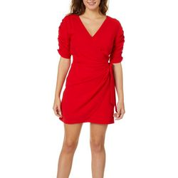 Speechless Juniors Solid Wrap Dress