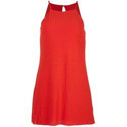 Speechless Juniors Eyelet Cherry Mini Dress