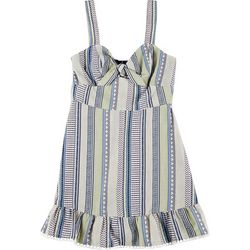 Speechless Juniors Striped Front Tie Short Dress