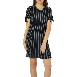 Speechless Juniors Striped Tie Sleeve Dress