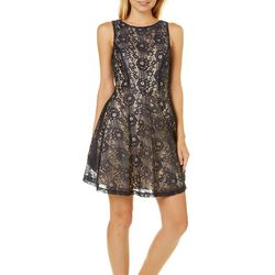 Speechless Juniors Floral Lace Skater Dress