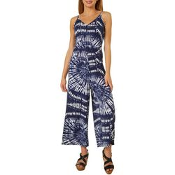 Say What? Juniors Sleeveless Tie Dye Jumpsuit